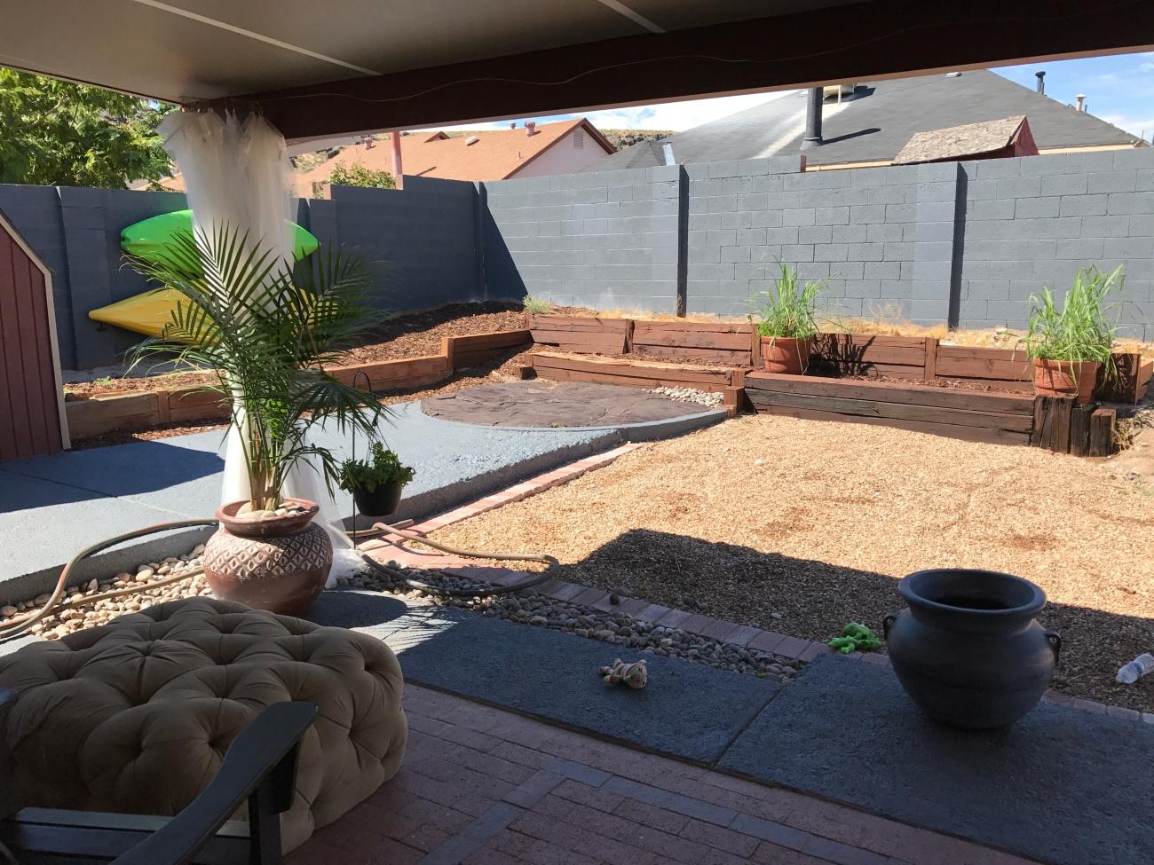 first summer backyard